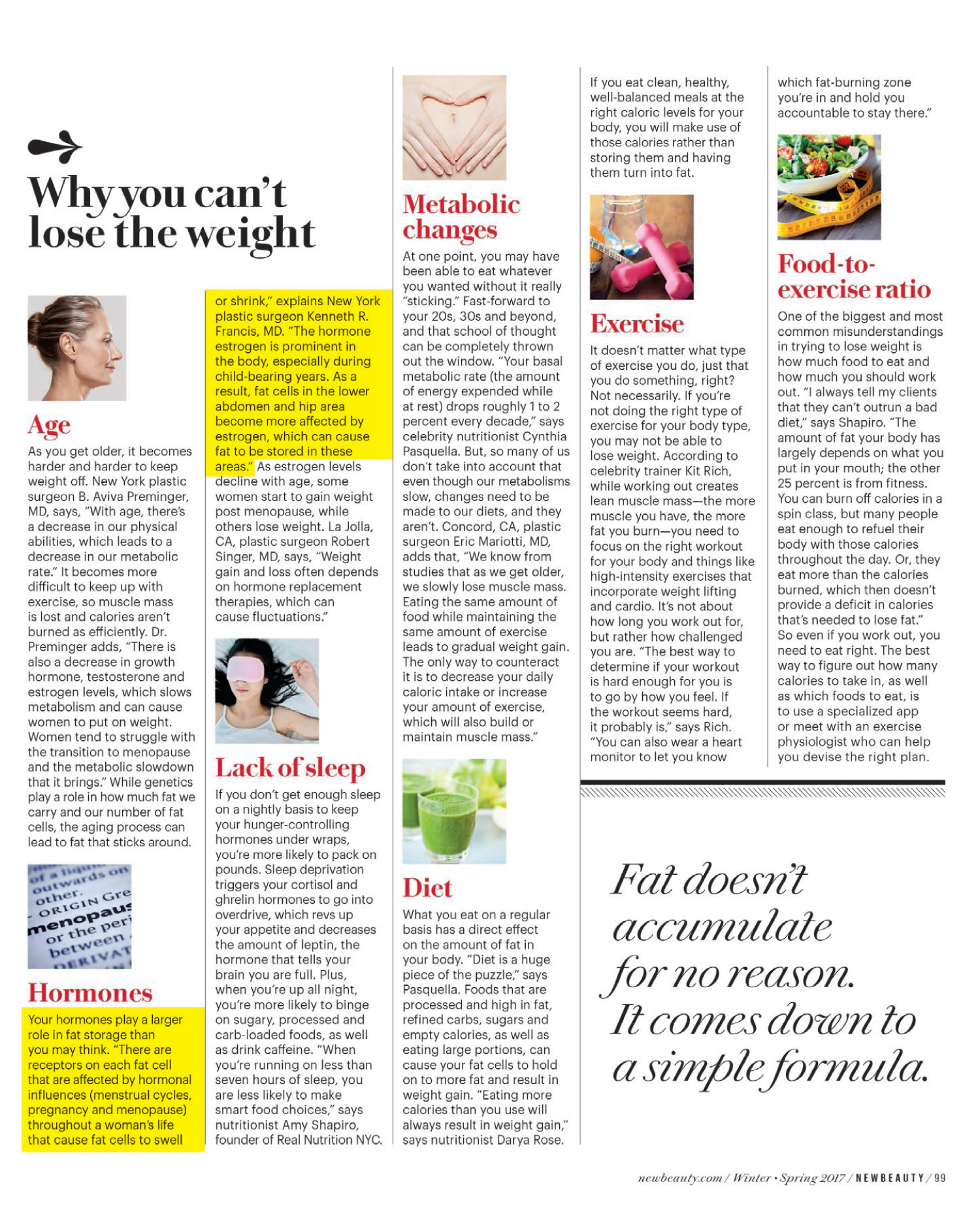 Dr. Francis is featured in this article of New Beauty January issue 2